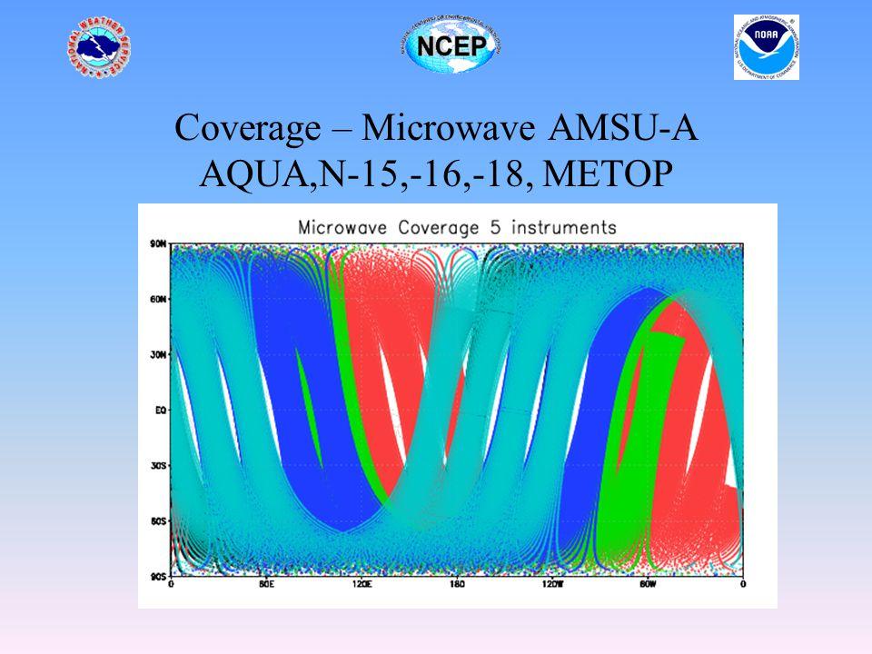 Coverage – Microwave AMSU-A AQUA,N-15,-16,-18, METOP