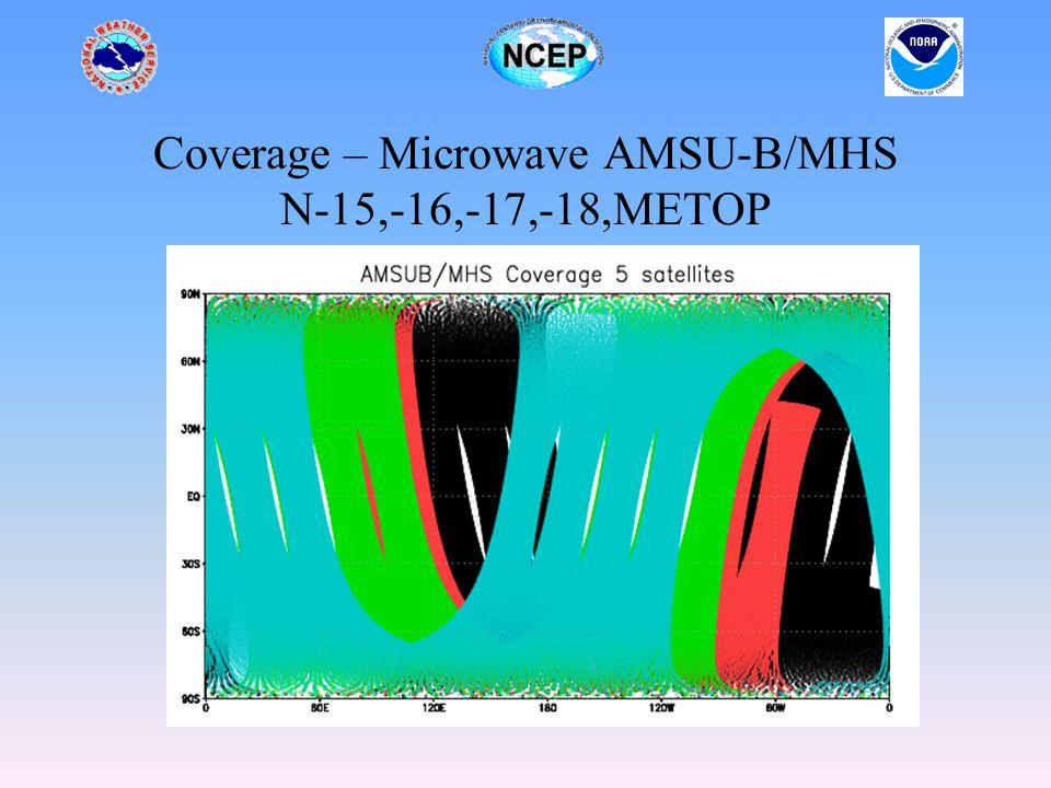 Coverage – Microwave AMSU-B/MHS N-15,-16,-17,-18,METOP