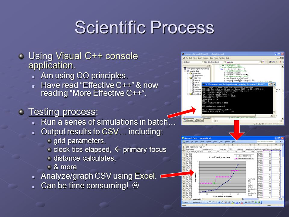 Scientific Process Using Visual C++ console application.