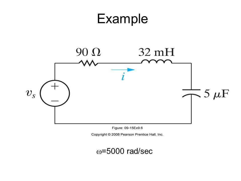  =5000 rad/sec Example