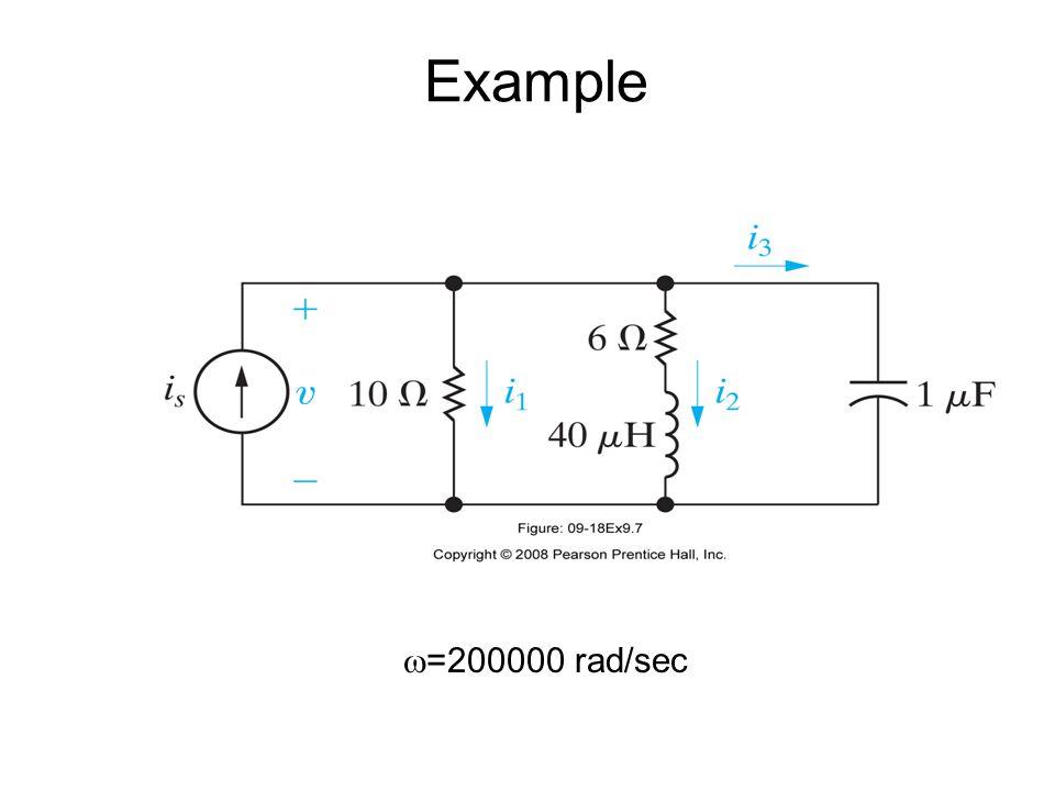  =200000 rad/sec Example