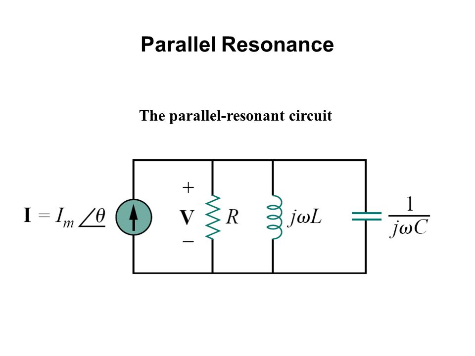 Parallel Resonance The parallel-resonant circuit