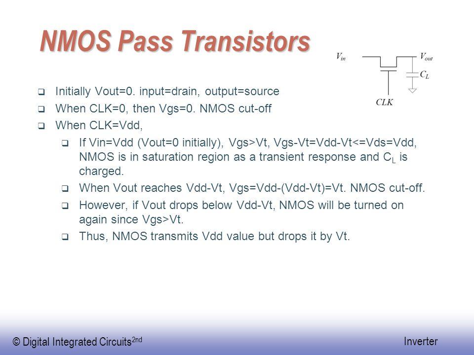 © Digital Integrated Circuits 2nd Inverter NMOS falling time  tf=tf1+tf2  Assume Vt=0.2Vdd