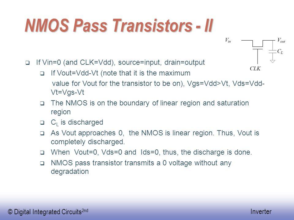 © Digital Integrated Circuits 2nd Inverter Rising time  Assume |Vtp|=0.2Vdd