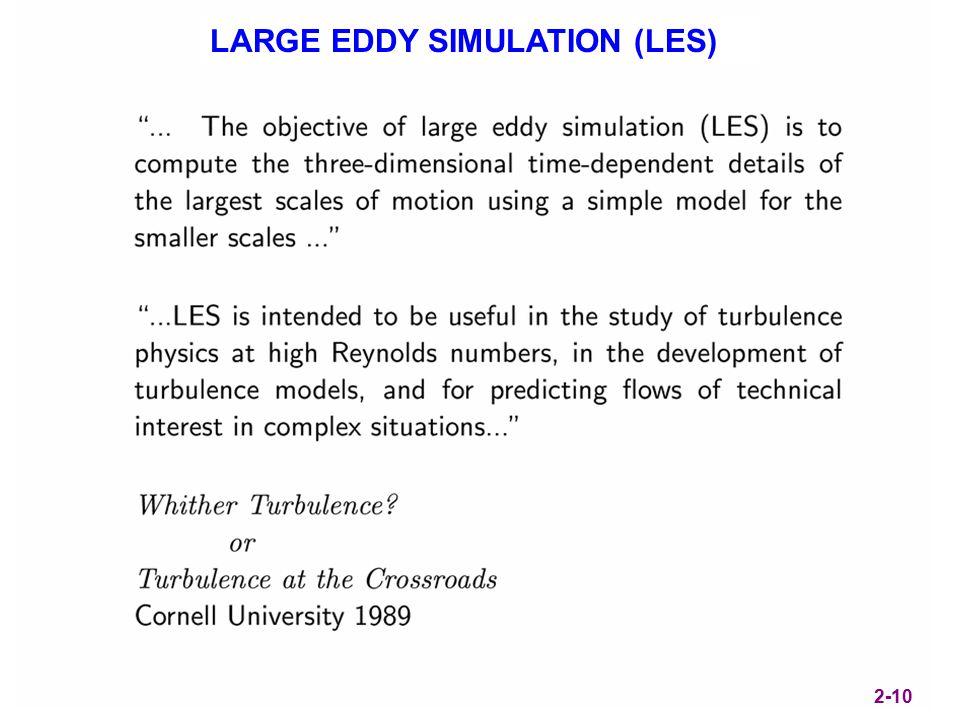 LARGE EDDY SIMULATION (LES) 2-10