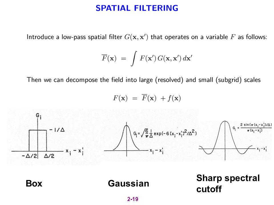 BoxGaussian Sharp spectral cutoff 2-19
