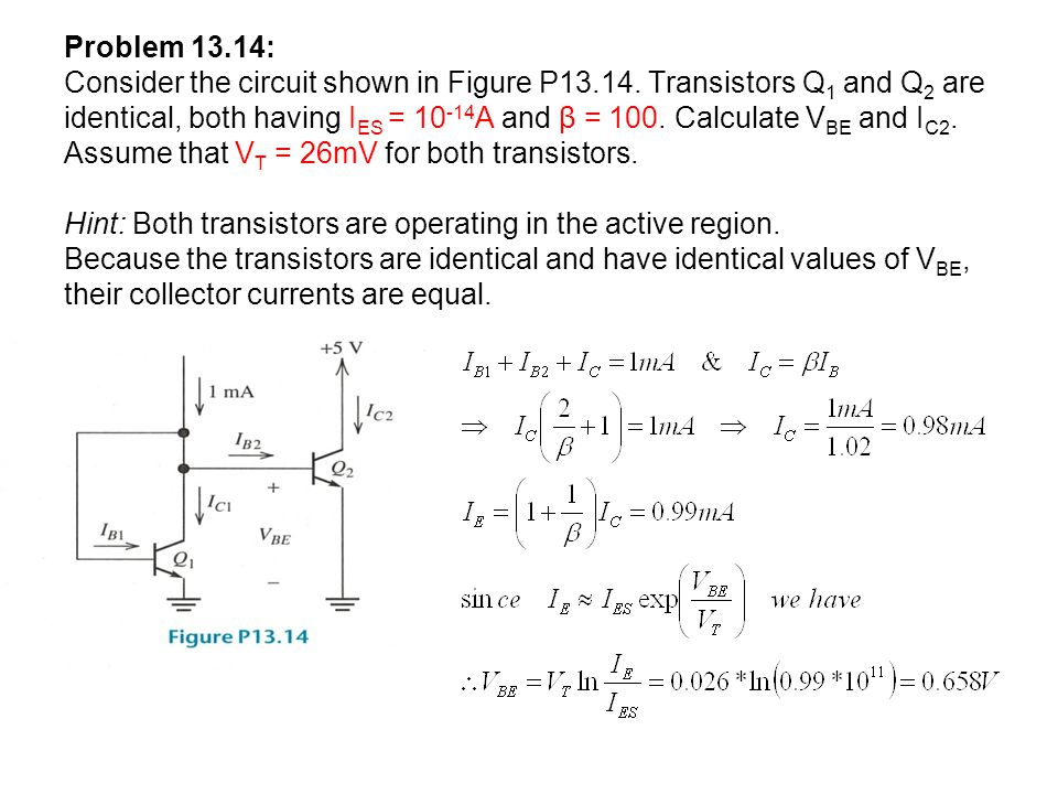 Problem 13.14: Consider the circuit shown in Figure P13.14.