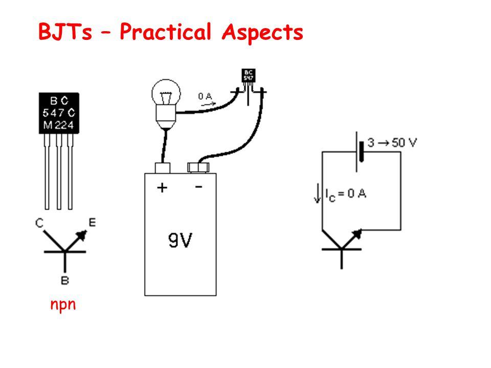 npn BJTs – Practical Aspects