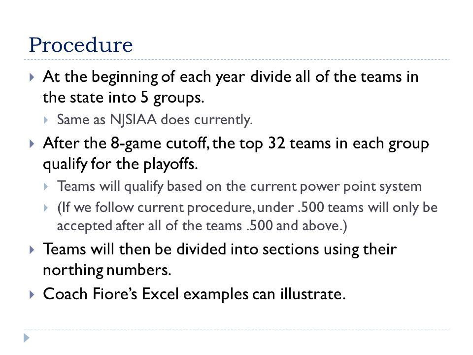 Modified Proposal  Some coaches felt it was unfair to move a top team in a section to make room for a lower seed.