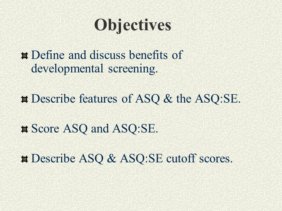 What are the ASQ and the ASQ:SE .