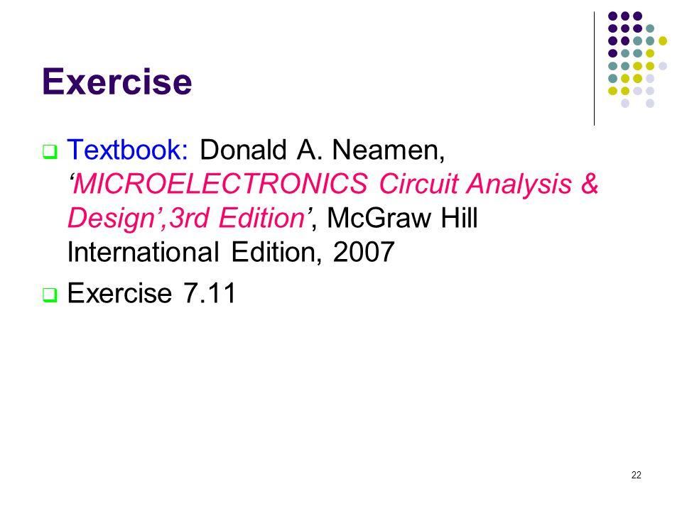 Exercise  Textbook: Donald A.