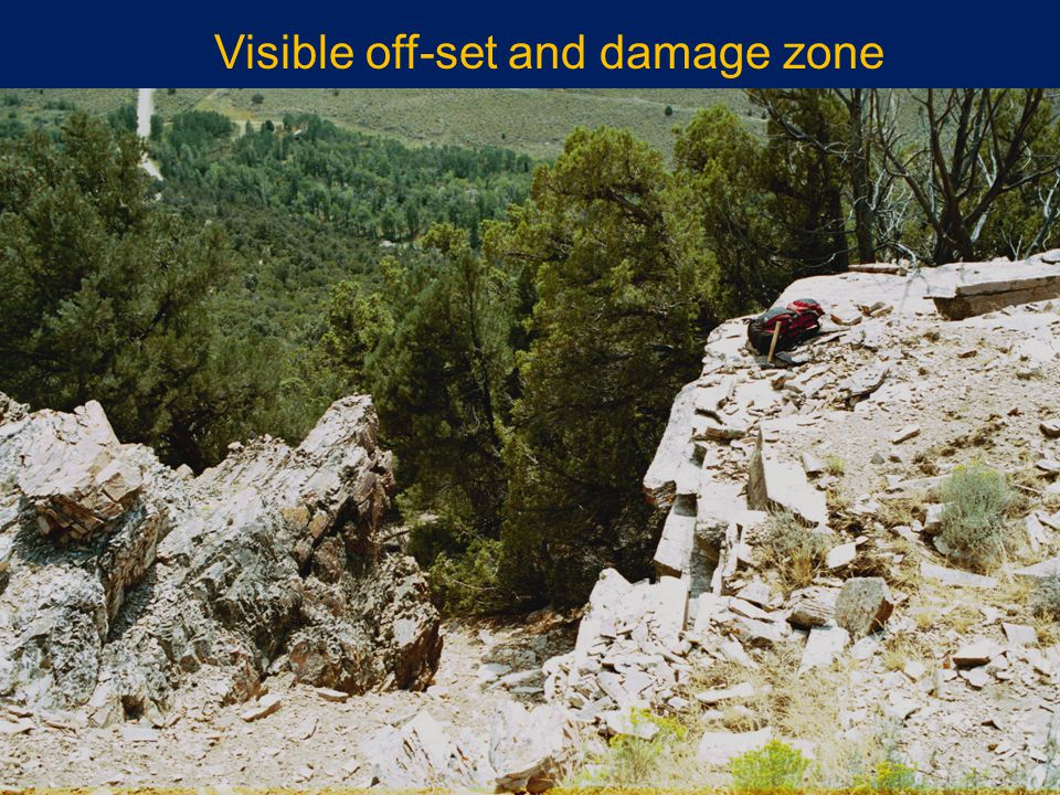 Visible off-set and damage zone