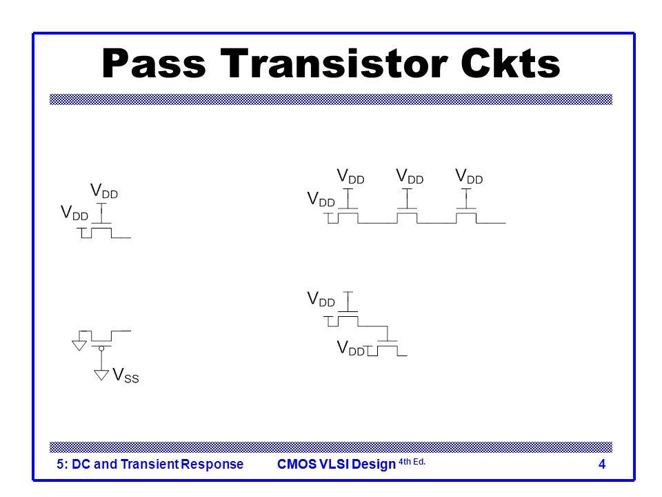 CMOS VLSI DesignCMOS VLSI Design 4th Ed. 5: DC and Transient Response4 Pass Transistor Ckts