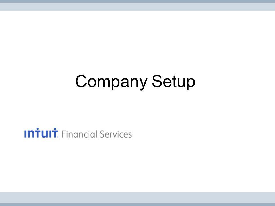 Company Setup