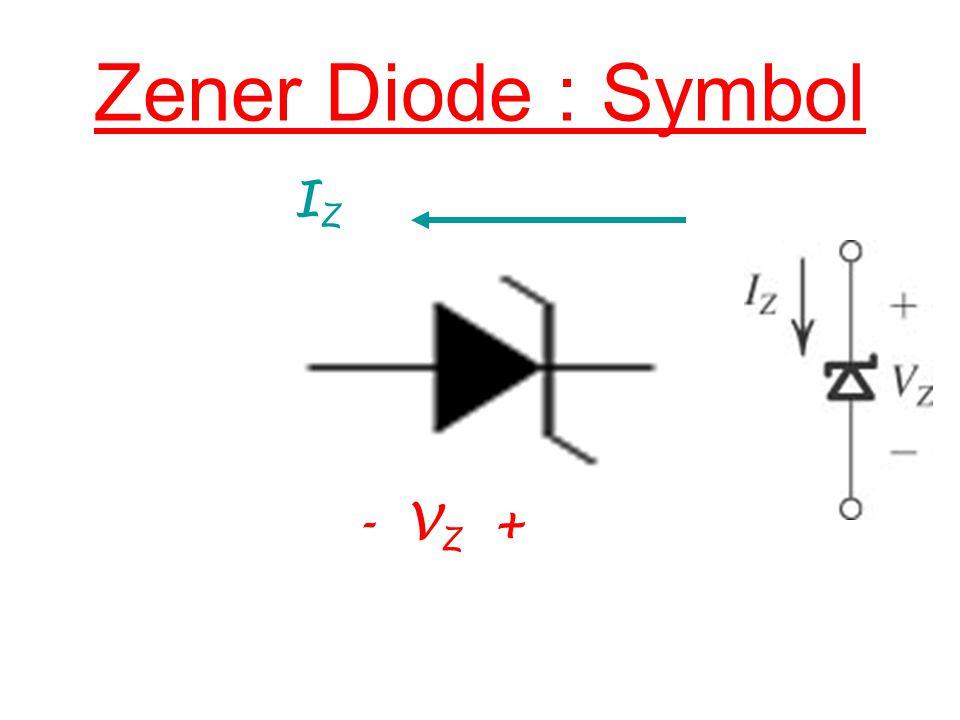 IZIZ - V Z + Zener Diode : Symbol
