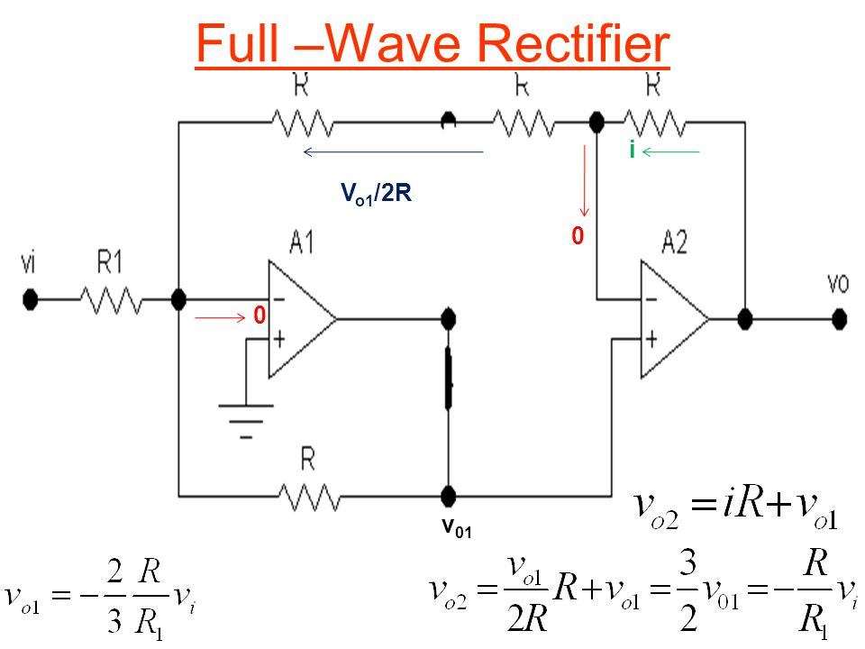 Full –Wave Rectifier 0 0 v 01 i V o1 /2R