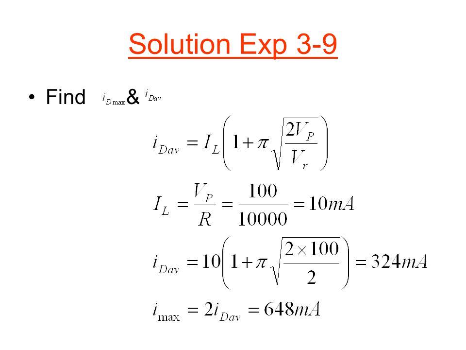 Solution Exp 3-9 Find &