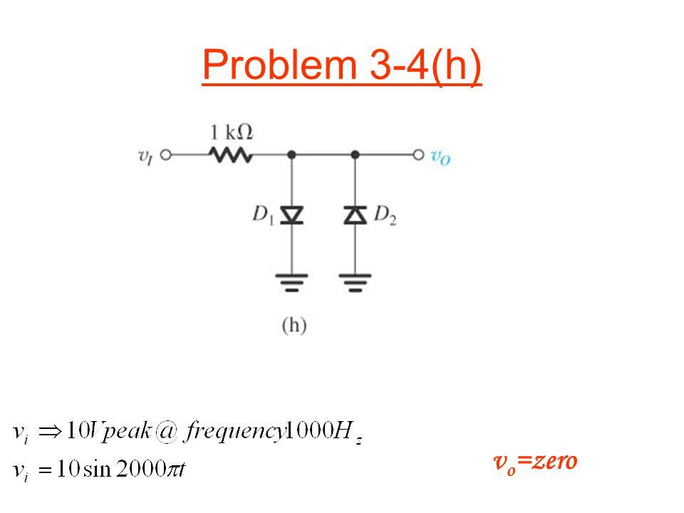 Problem 3-4(h) v o =zero