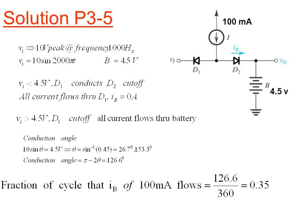 Solution P3-5 vovo 4.5 v 100 mA