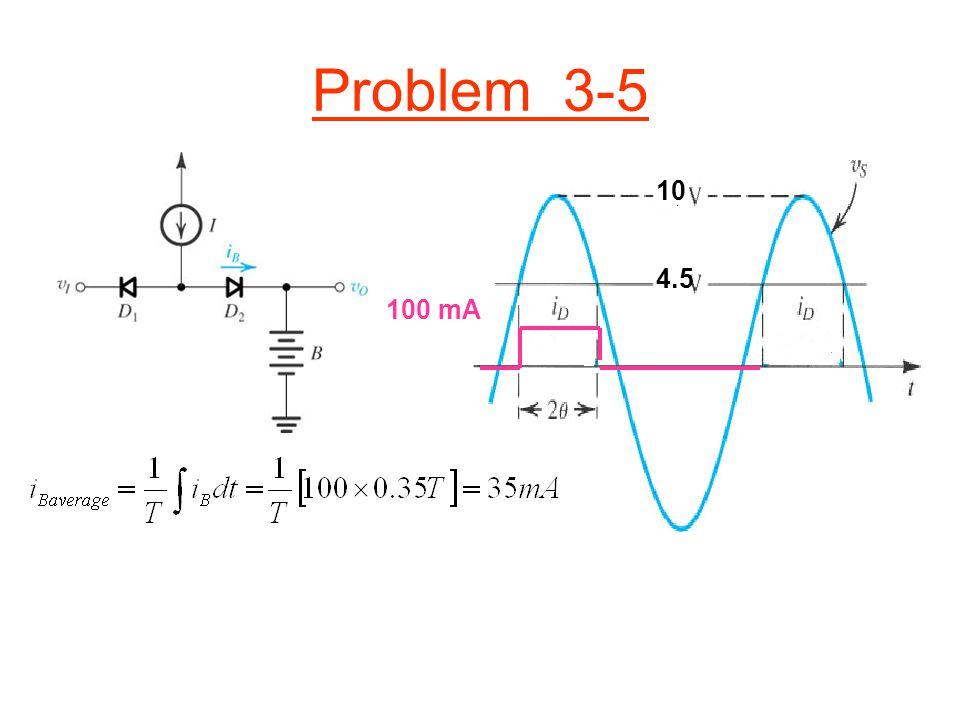 Problem 3-5 4.5 10 100 mA
