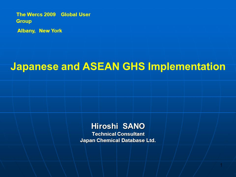 GHSImplementation in East Asia 2. GHS Implementation in East Asia 2-1. Korea 2-2. China 2-3. Taiwan