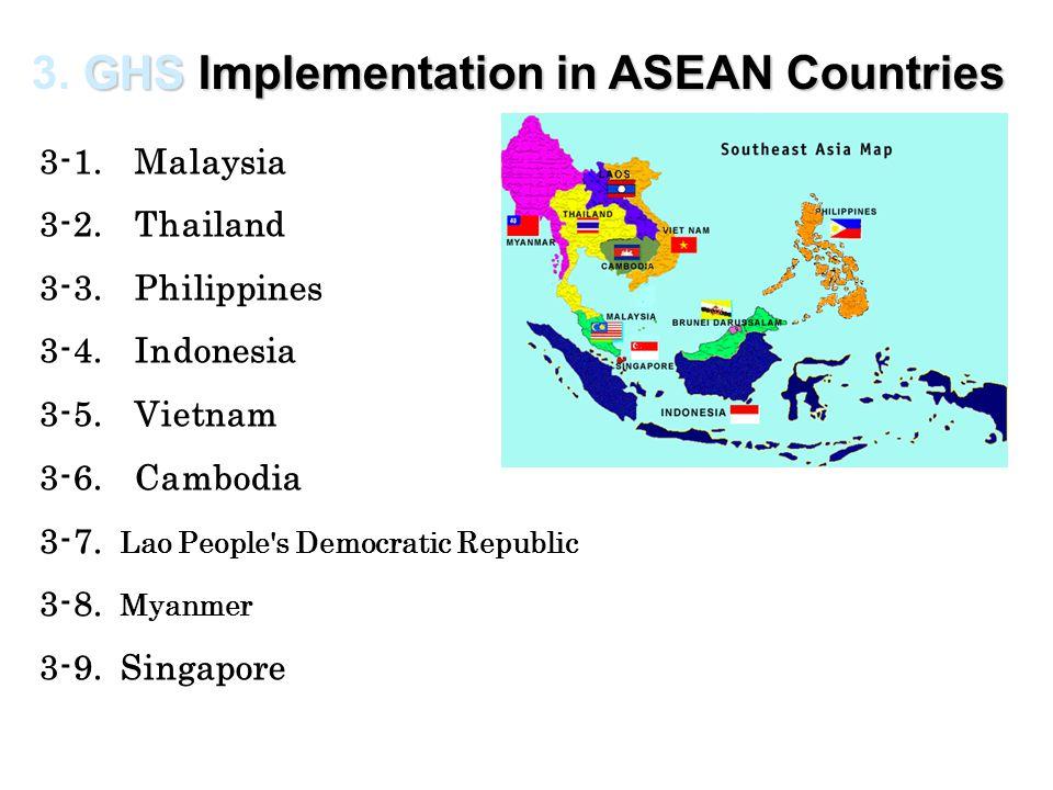 3-1. Malaysia 3-2. Thailand 3-3. Philippines 3-4. Indonesia 3-5. Vietnam 3-6. Cambodia 3-7. Lao People's Democratic Republic 3-8. Myanmer 3-9. Singapo