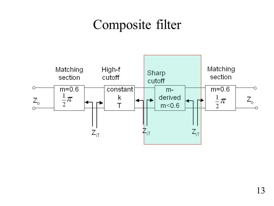 Composite filter 13