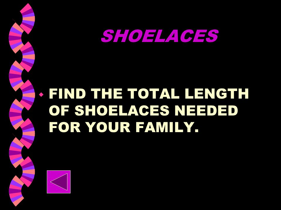SHOELACES w HOW MANY INCHES OF SHOELACE DOES A… WOMAN NEED? MAN? CHILD?