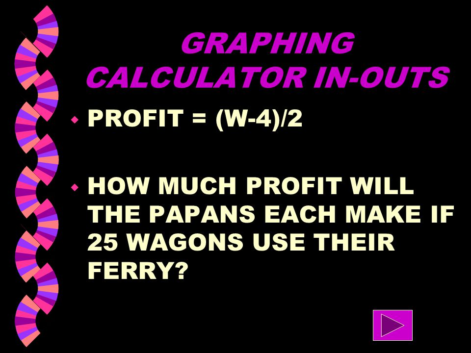 GRAPHING CALCULATOR IN-OUTS w IF A FAMILY BOUGHT 155 LBS OF BEANS, HOW MANY PEOPLE CAN THIS FEED?