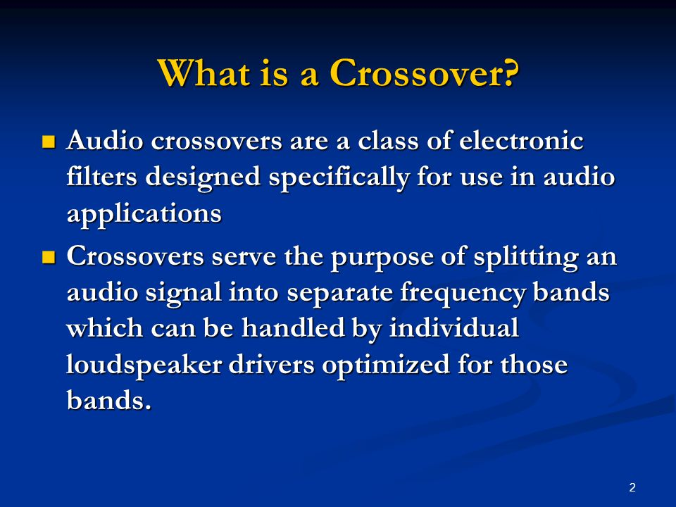 3 What is a Crossover.