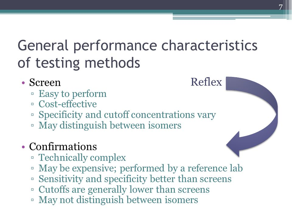 Summary and conclusions All drug tests have strengths and limitations All specimen types have strengths and limitations, and are at risk of tampering Individual characteristics of a drug user will impact drug testing results Work with the laboratory to get the best option available that meets your needs Avoid over-testing, and over-interpretation 48