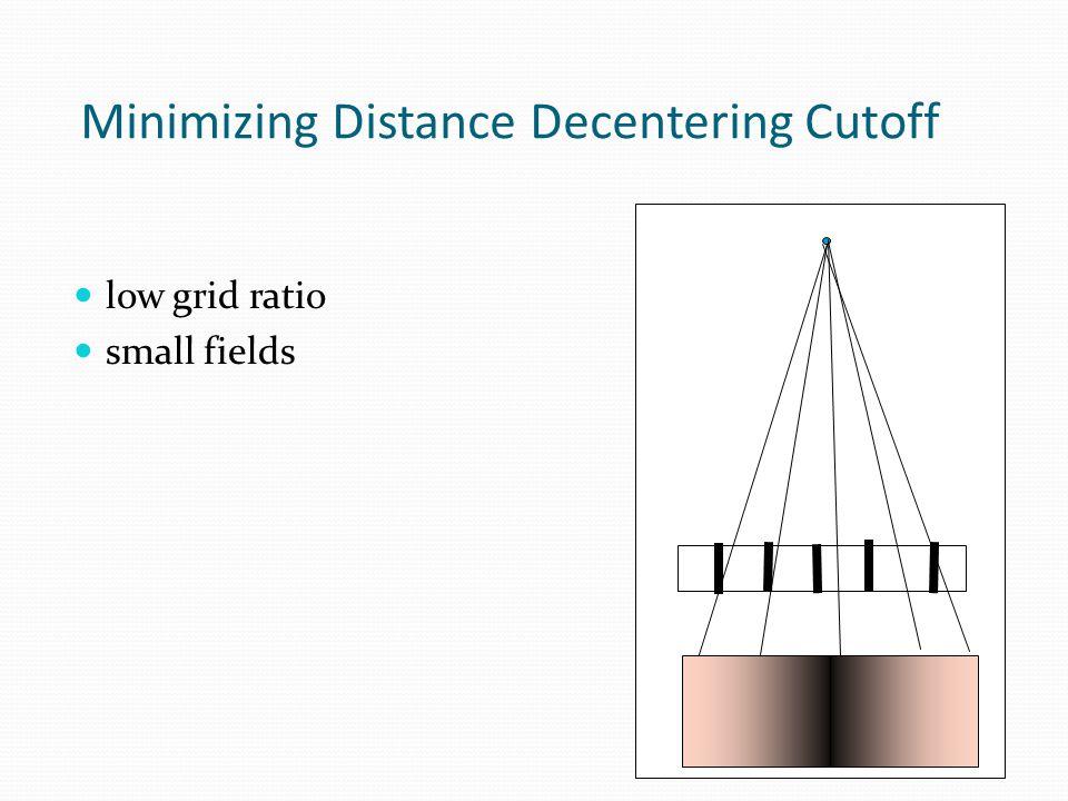 Minimizing Distance Decentering Cutoff low grid ratio small fields