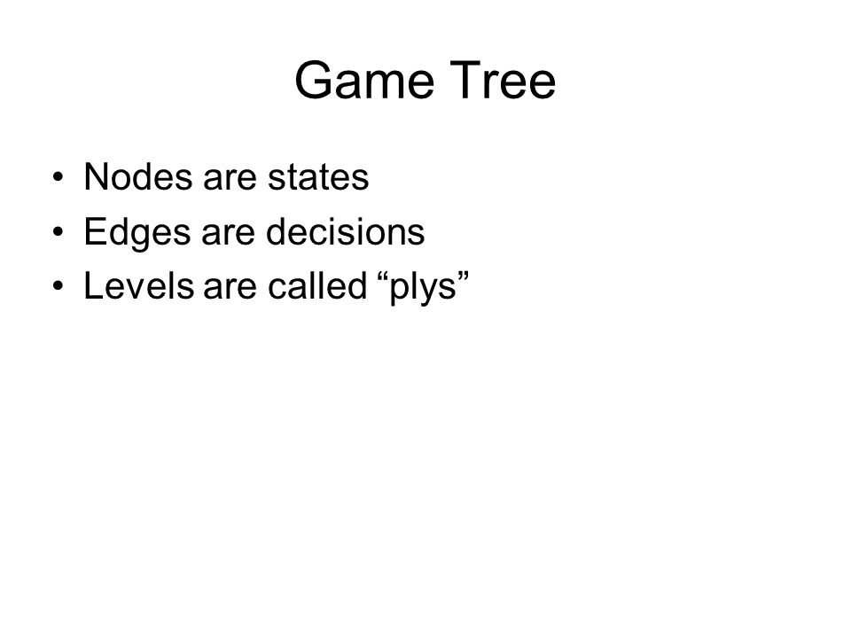 Naïve Approach Given a game tree, what would be the most straightforward playing approach.