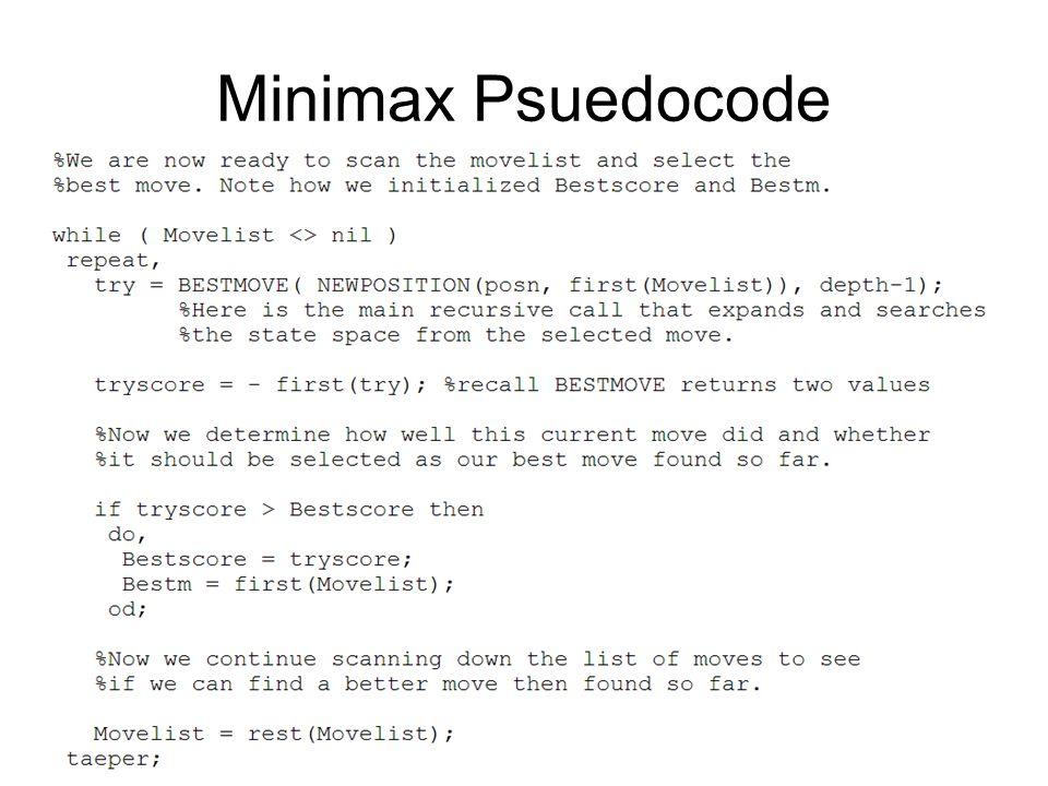 Minimax Psuedocode