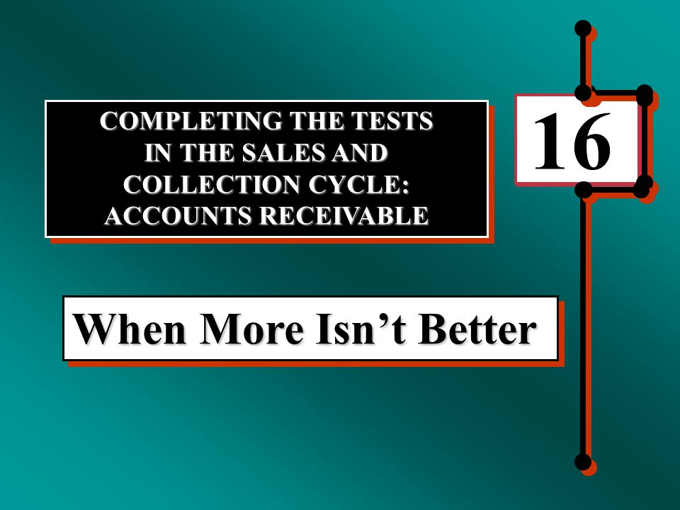 METHODOLOGY FOR DESIGNING TESTS OF DETAILS OF BALANCES In designing tests of details of balances for accounts receivable, it is essential to satisfy each of the nine balances-related audit objectives first discussed in Chapter 6.