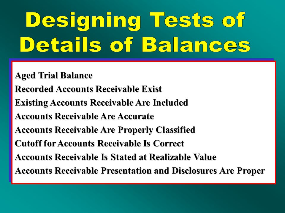 Confirmation of Accounts Receivable AICPA Requirements 1.