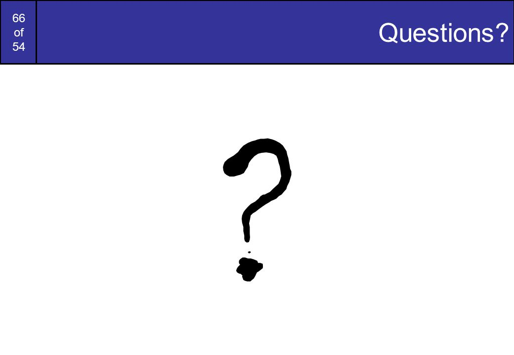 66 of 54 Questions? ?