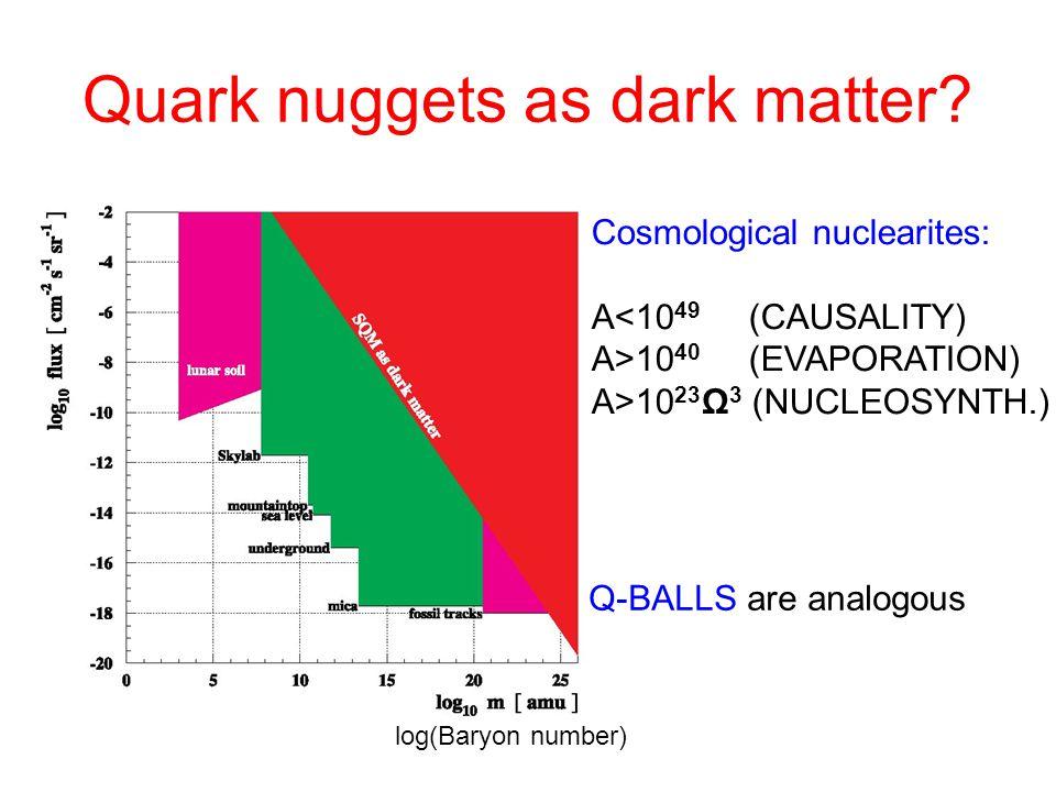 Q-balls behave like quark nuggets Madsen, Phys.Rev.Lett.