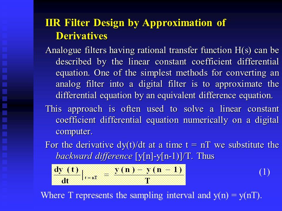 Digital Signal Processing IIR Filter