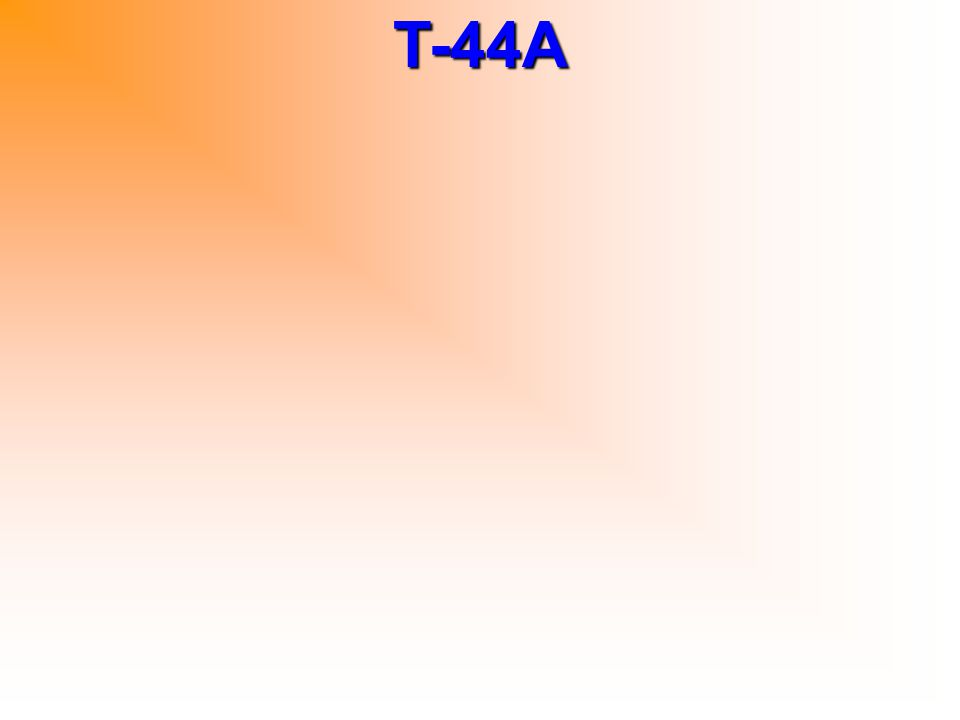 T-44A Nosewheel travel left/right of center 12L/14R deg