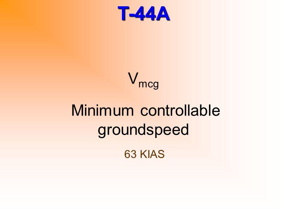 T-44A Nosewheel travel with brake assist 48 deg