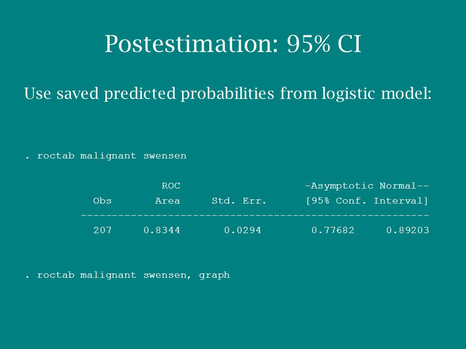 Use saved predicted probabilities from logistic model:.