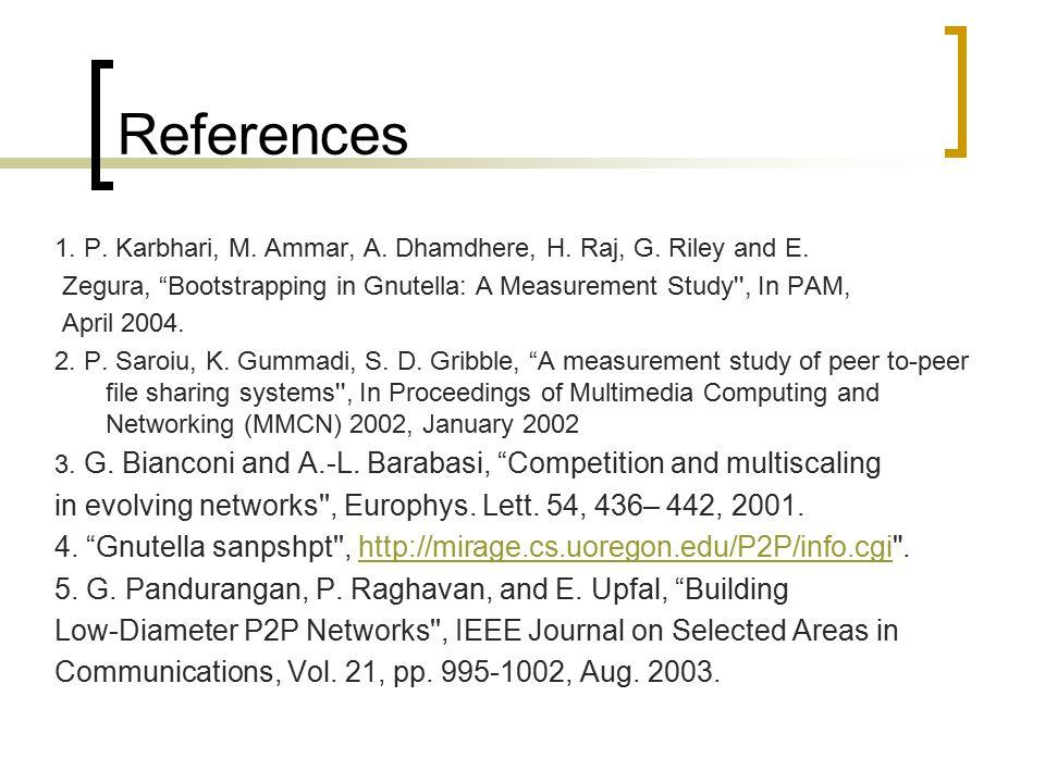 References 1. P. Karbhari, M. Ammar, A. Dhamdhere, H.