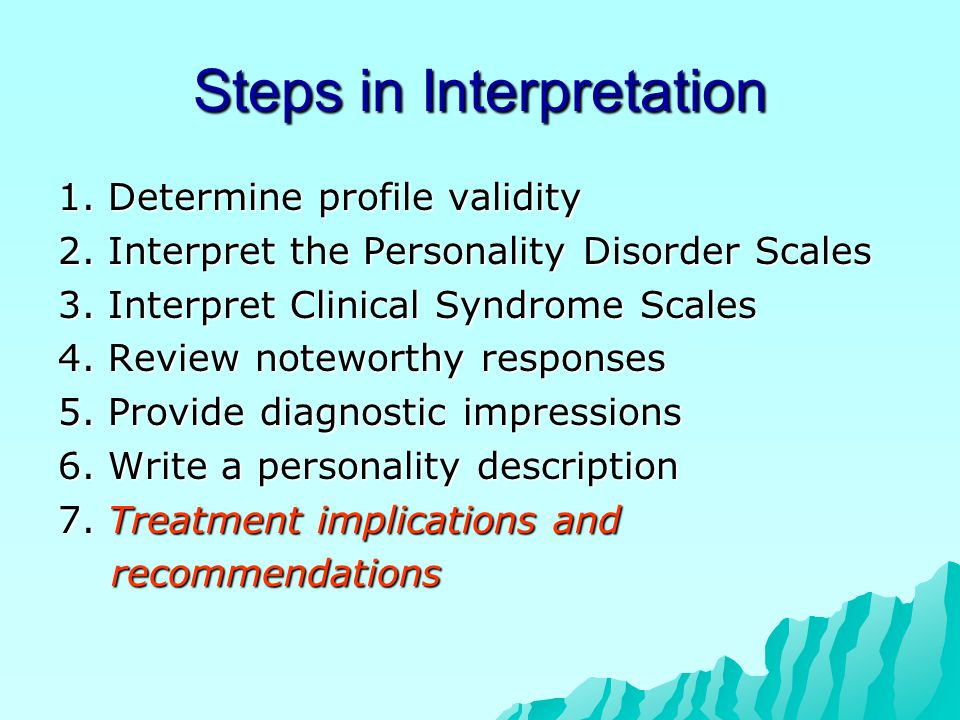 Steps in Interpretation 1.Determine profile validity 2.
