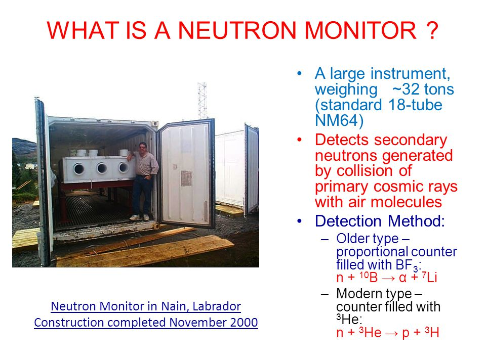WHAT IS A NEUTRON MONITOR .
