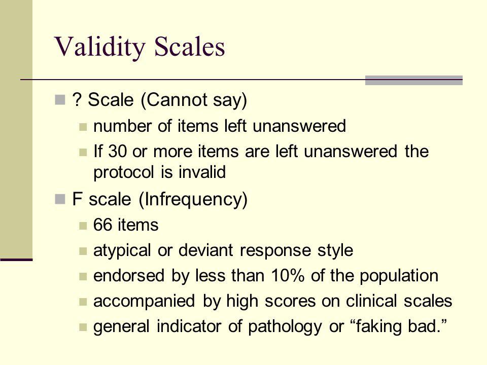 Validity Scales .
