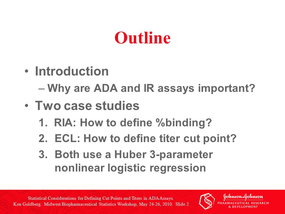 Statistical Considerations for Defining Cut Points and Titers in ADA Assays.