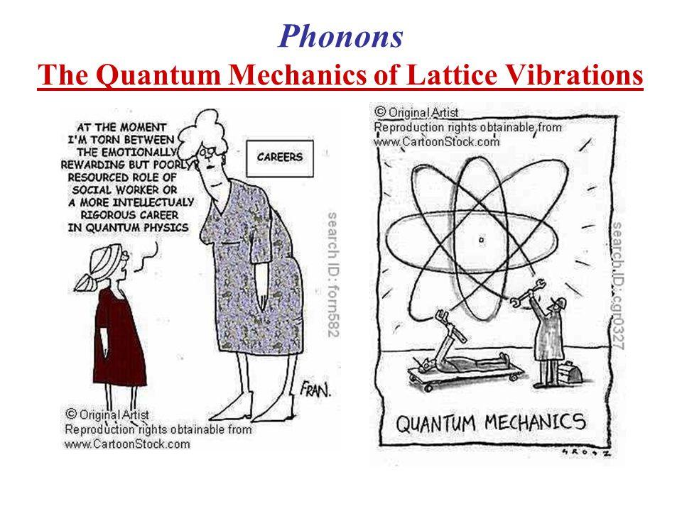 Phonons The Quantum Mechanics of Lattice Vibrations