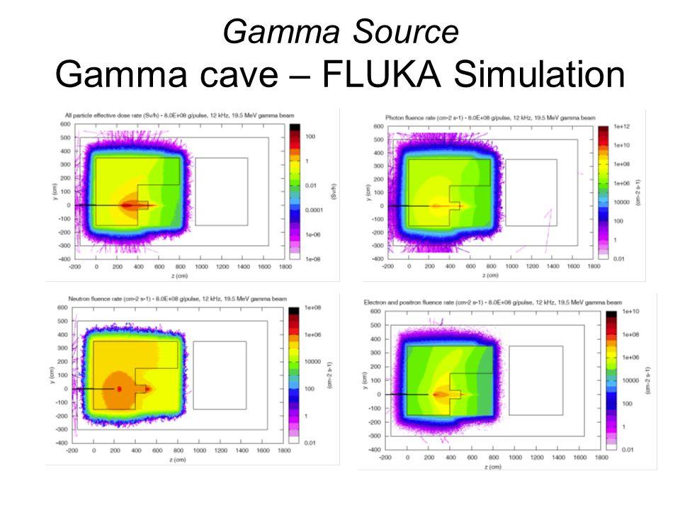 Gamma Source Gamma cave – FLUKA Simulation