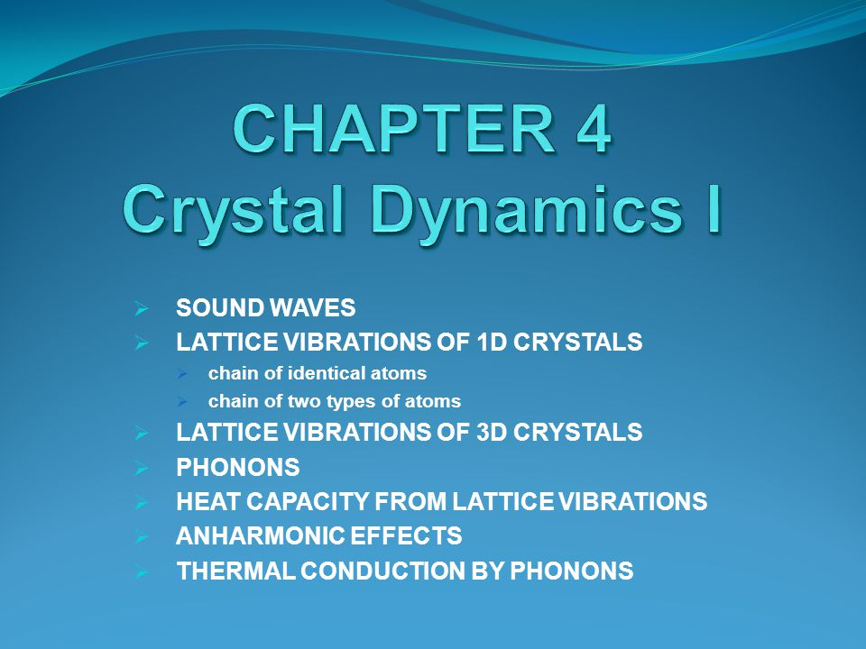 The energy given to lattice vibrations is the dominant contribution to the heat capacity i n most solids.